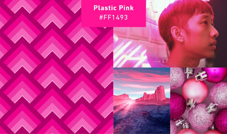plastic pink collage gen z branding
