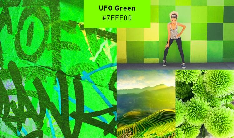 ufo green modern branding